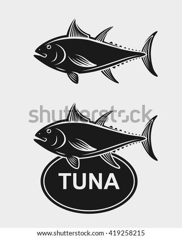 Tuna set. Vector - stock vector