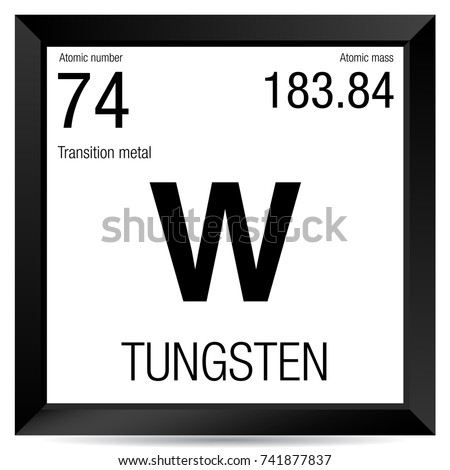 Tungsten symbol element number 74 periodic stock vector 741877837 tungsten symbol element number 74 of the periodic table of the elements chemistry urtaz Choice Image