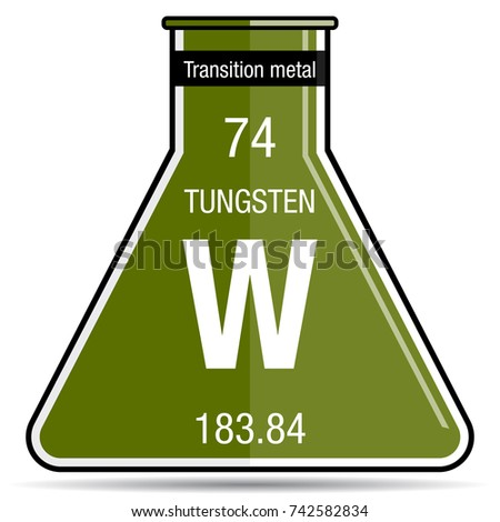 Tungsten symbol on chemical flask element stock vector 742582834 tungsten symbol on chemical flask element number 74 of the periodic table of the elements urtaz Choice Image