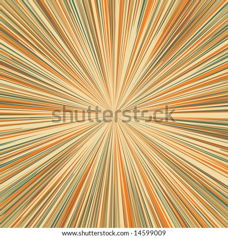 Tunnel of light - stock vector