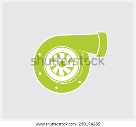 turbo garrett icon - stock vector