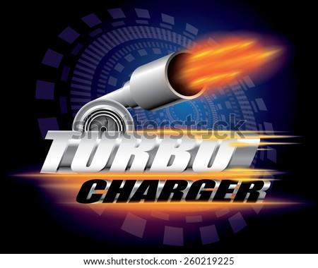 Turbocharger concept vector - stock vector