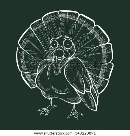 turkey - chalk - stock vector