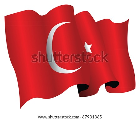 turkey flag - stock vector