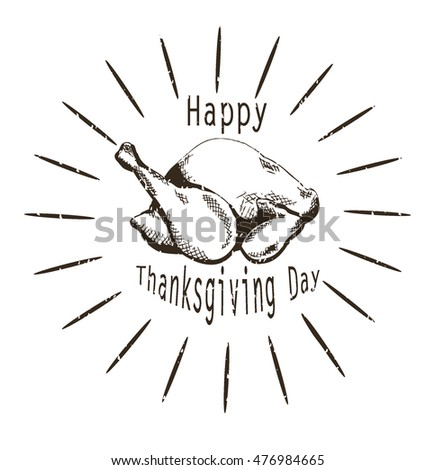 Turkey. Happy Thanksgiving card, background, poster. Vector illustration