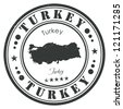Turkey stamp - stock vector