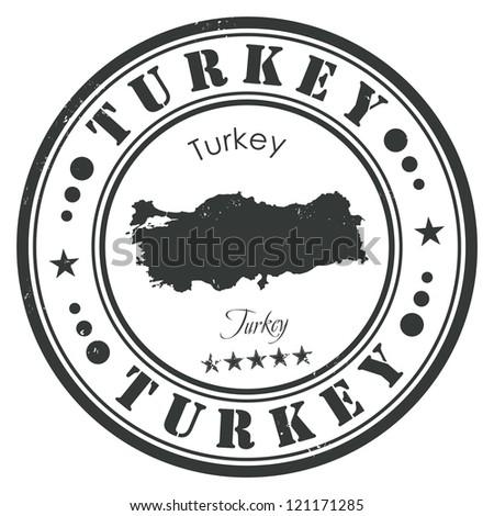Turkey stamp - stock vector
