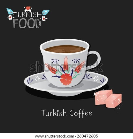 Turkish coffee. - stock vector