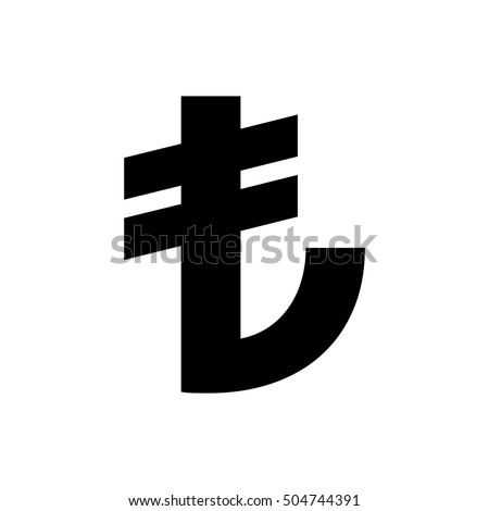 Turkish Lira Sign Turkish Currency Symbol Stock Vector 504744391