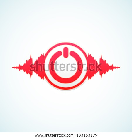 Turn off the music - stock vector