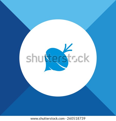 Turnip Icon On Blue Background. Eps-10. - stock vector