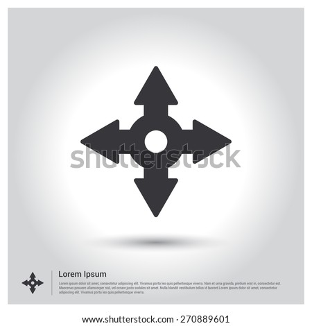 Turns roads and Roundabouts icon. Broken connection Icon, Vector illustration for web, site, mobile application. Simple flat metro design style. Outline Icon. Flat design style - stock vector