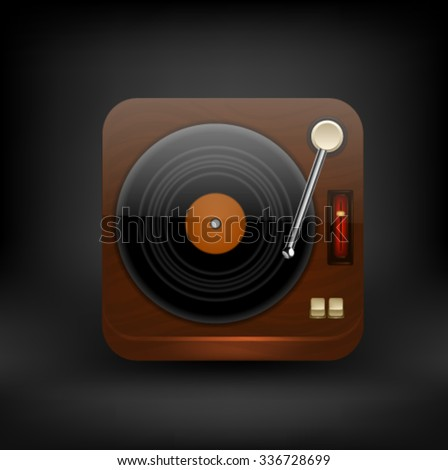 Turntable icon. Vector