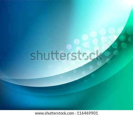 Turquoise abstract background - stock vector