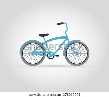 Turquoise bike. Vector illustration.