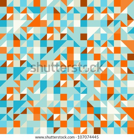 Turquoise Green and Blue pattern - stock vector