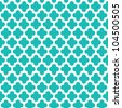 Turquoise Quatrefoil Pattern - stock photo