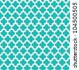 Turquoise Quatrefoil Pattern - stock