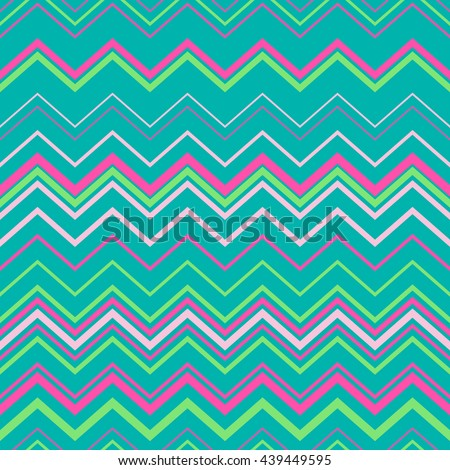 Turquoise seamless background. Zig zag seamless pattern in pastel colors.Seamless chevron pattern. Digital print for wallpaper, wrapping paper, fabric, textile, scrap booking, apparel, web design. - stock vector