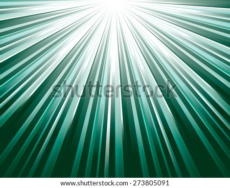 Turquoise Vector Rays. Abstract Modern Background. - stock vector