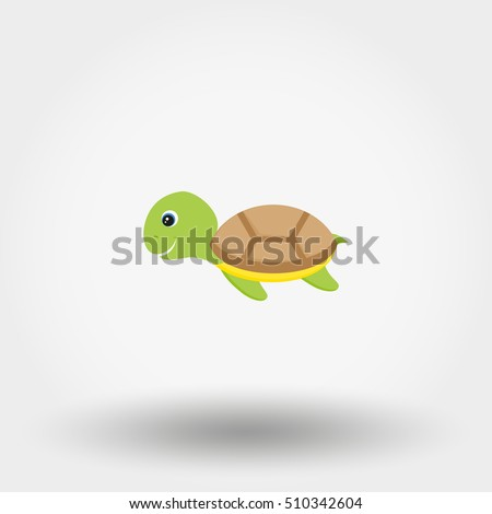 turtle toy icon web mobile application stock vector hd royalty free rh shutterstock com Sea Turtle Silhouette Sea Turtle SVG