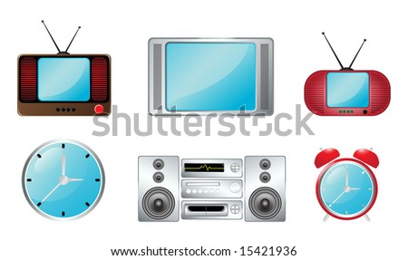 Tv and clock icon