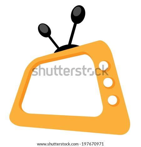 TV cartoon - stock vector