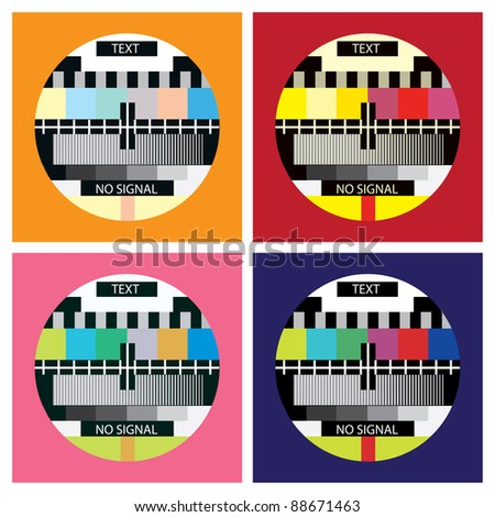 tv color test in pop art style - illustration - stock vector