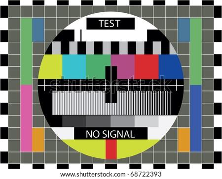 TV color test pattern - illustration - stock vector