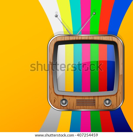 TV colorful no signal background