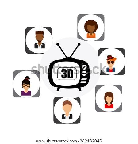 TV entertainment design, vector illustration eps10 graphic - stock vector