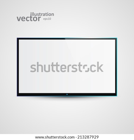 TV Flat Screen Icd, Vector Illustration eps10, Graphic Concept  For Your Design. - stock vector
