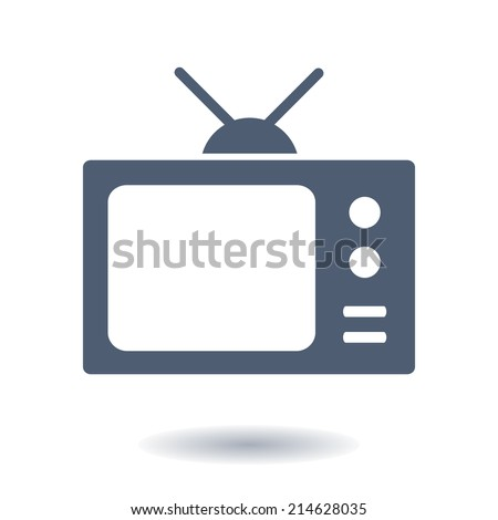 Tv icon. Flat design style. Vector EPS 10.  - stock vector