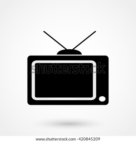 TV icon isolated on background. Modern flat pictogram, business, marketing, internet concept. Trendy Simple vector symbol for web site design or button to mobile app. Logo illustration - stock vector