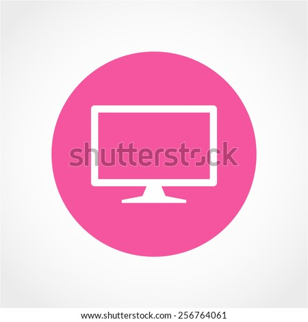 TV Icon Isolated on White Background - stock vector