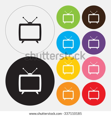 TV icon - Vector - stock vector