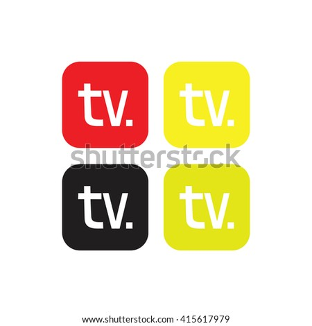 TV letters,word TV television