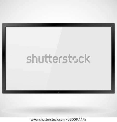 TV, modern flat screen lcd, led, isolated, stylish vector illustration