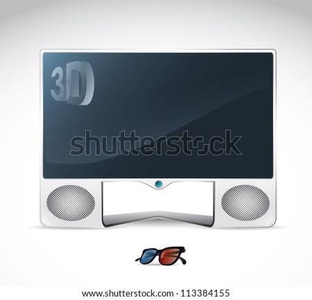 TV monitor - vector illustration - stock vector