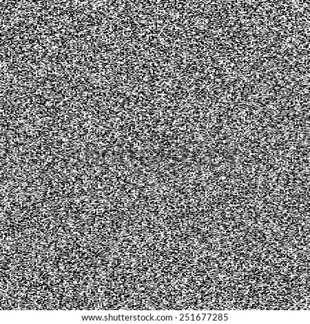 TV noise seamless texture. Vector. - stock vector