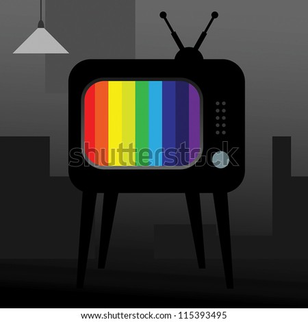 TV over gray background. vector illustration