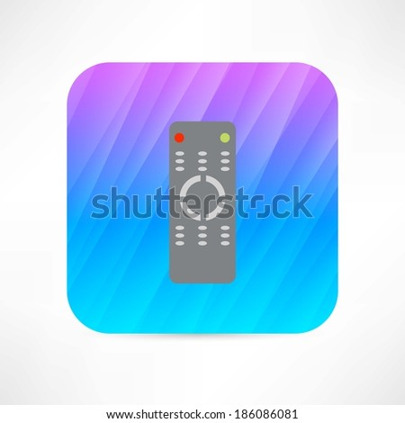 tv remote icon - stock vector
