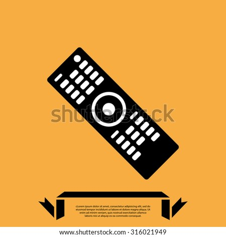 TV remote . vector illustration - stock vector