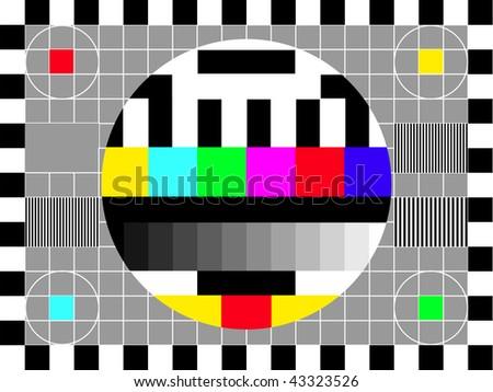 TV retro screen - stock vector