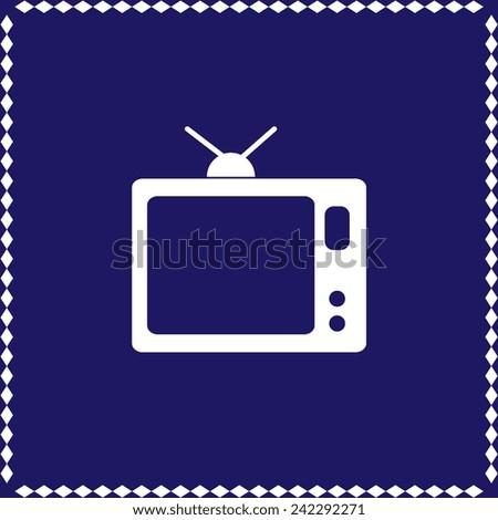 TV set vector icon - stock vector