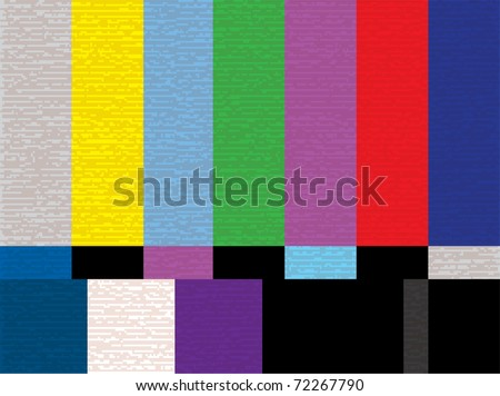 tv test color screen - illestration - stock vector