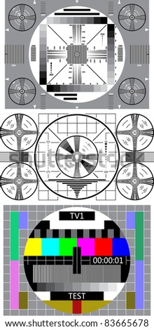 tv test pattern - stock vector