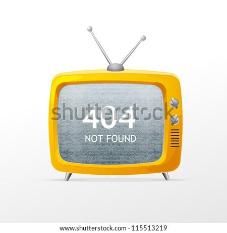 Tv vector blank error - stock vector