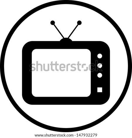 TV vector icon  - stock vector