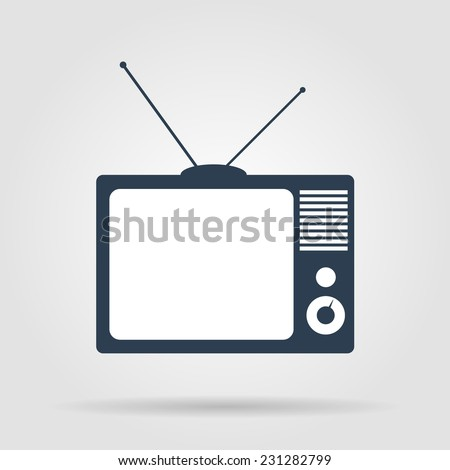 TV vector icon. Flat vector illustrator Eps - stock vector